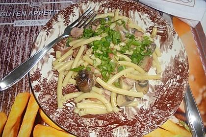 Pasta mit Champignons & Frühlingszwiebeln 1