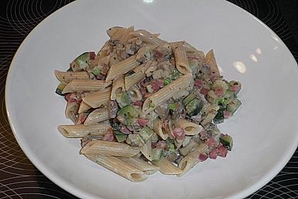 Pasta mit Champignons & Frühlingszwiebeln 3