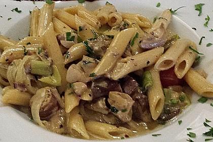 Pasta mit Champignons & Frühlingszwiebeln 4