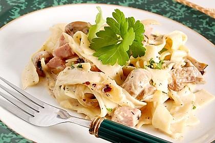 Pasta mit Champignons & Frühlingszwiebeln