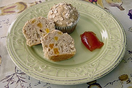 Muffins mit Banane und Aprikosen 1