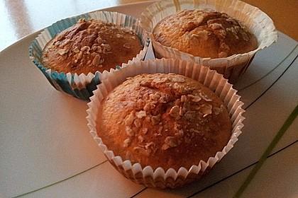Muffins mit Banane und Aprikosen 2