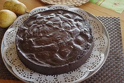 Birnenkuchen mit dem schokoladigsten Schoko - Schokoladen - Schock 16