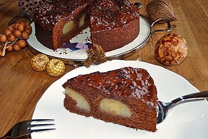 Birnenkuchen mit dem schokoladigsten Schoko - Schokoladen - Schock 5
