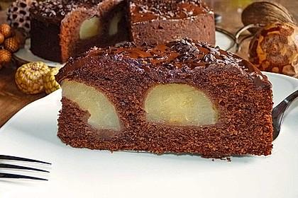 Birnenkuchen mit dem schokoladigsten Schoko - Schokoladen - Schock 3