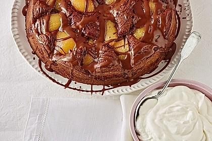 Birnenkuchen mit dem schokoladigsten Schoko - Schokoladen - Schock