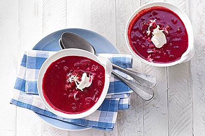Cremige Rote Bete - Möhren - Suppe