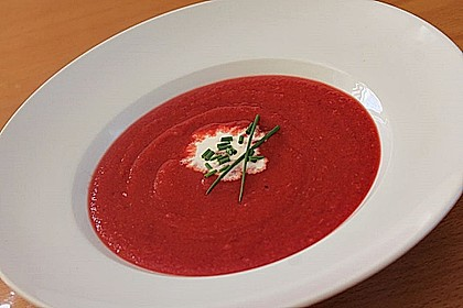 Cremige Rote Bete - Möhren - Suppe 6