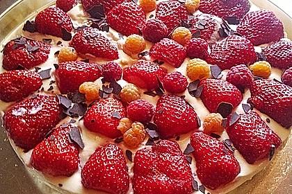 Erfrischende Pfirsich - Frischkäse - Torte 2