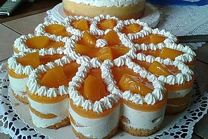 Erfrischende Pfirsich - Frischkäse - Torte 1