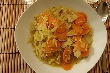 Möhren - Weißkohl - Graupeneintopf
