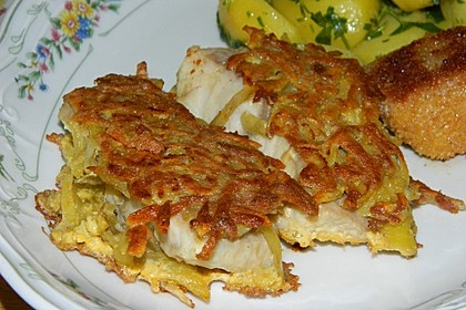 Welsfilet in Kartoffelkruste