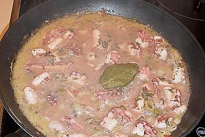 Tintenfisch in Weißwein ertränkt (Bild)