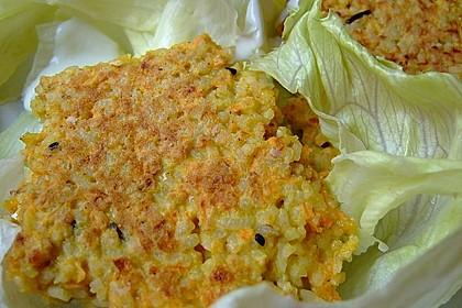 Curryreis - Gemüselaibchen mit Knoblauchdip