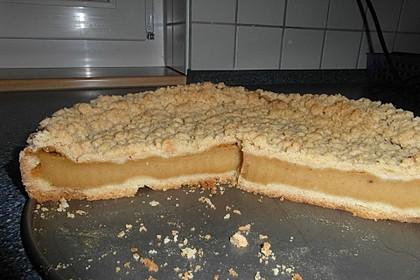 Streuselkuchen mit Pudding (Bild)