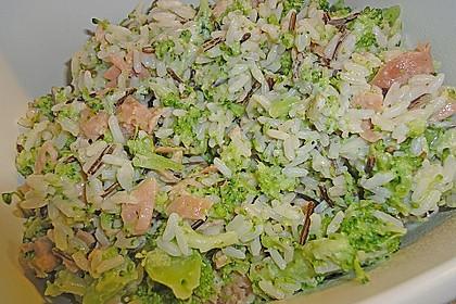 Reis mit Räucherlachs und Brokkoli 1
