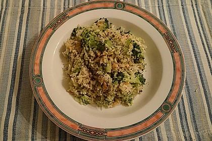 Reis mit Räucherlachs und Brokkoli 3