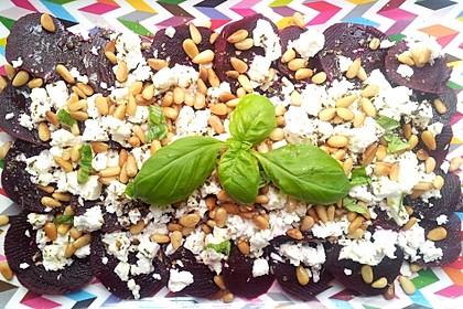 Rote Bete Salat mit Schafkäse & Balsamico - Dressing 6