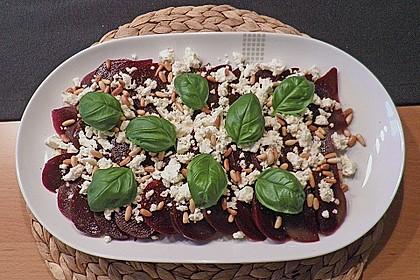 Rote Bete Salat mit Schafkäse & Balsamico - Dressing 3