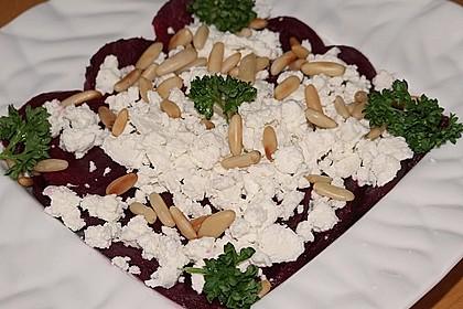 Rote Bete Salat mit Schafkäse & Balsamico - Dressing 8
