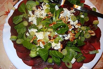 Rote Bete Salat mit Schafkäse & Balsamico - Dressing 4
