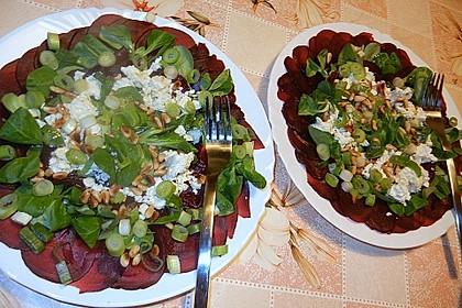 Rote Bete Salat mit Schafkäse & Balsamico - Dressing 10