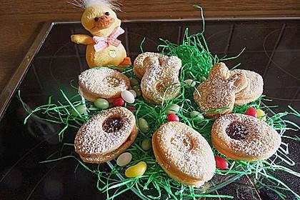 Roros mürbe Osterplätzchen - mit Lemon Curd und Brombeergelee 2