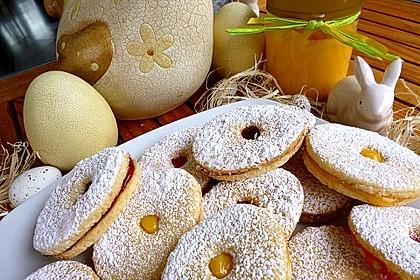 Roros mürbe Osterplätzchen - mit Lemon Curd und Brombeergelee 1