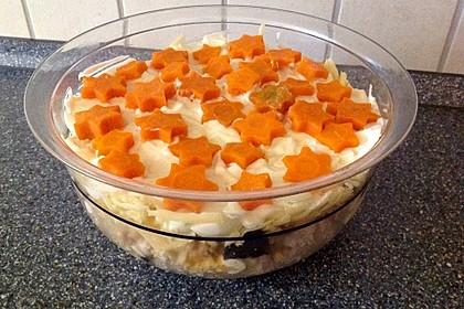 Salat zu Weihnachten