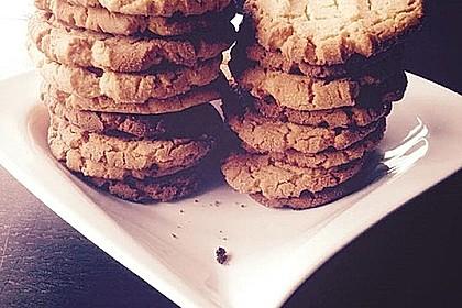 Saftige Erdnussbutter - Cookies 16