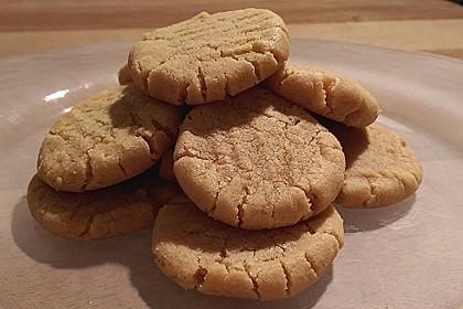 Saftige Erdnussbutter - Cookies 14