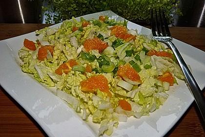 Chinakohlsalat mit Orangenfilets 2