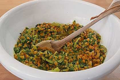 Curry - Dhal mit Spinat