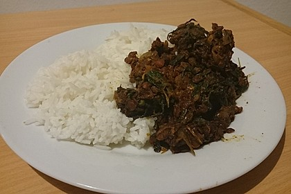 Curry - Dhal mit Spinat 1