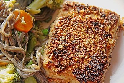 Tofu mit Gomasio-Dinkel Kruste