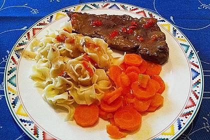 Bisonfilet mit Karamell - Chilisauce