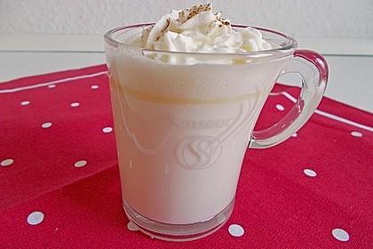 Heiße weiße Schokolade