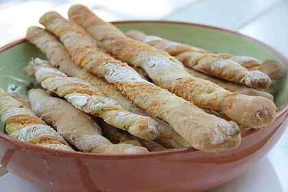 Oliven - Kräuter - Parmesan Breadsticks
