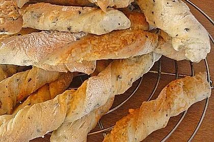 Oliven - Kräuter - Parmesan Breadsticks 10