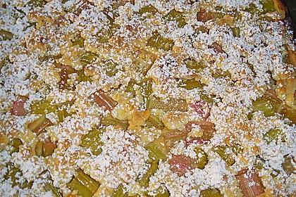 Rhabarberkuchen mit Mandelstreuseln 1