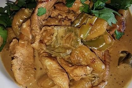 Gnocchipfanne mit Putenstreifen in Weißwein-Schmelzkäsesoße (Bild)