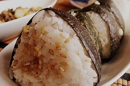 Onigiri mit Thunfisch - Mayonnaise - Füllung