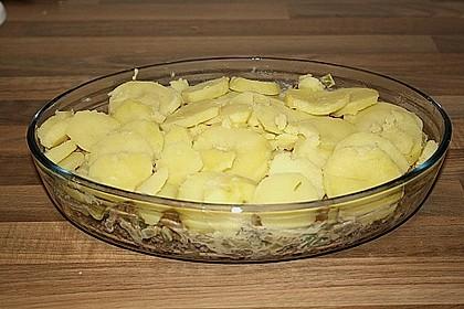 Porree-Kartoffel Auflauf mit Hack 4