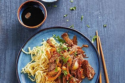 Chinesisches Rindfleisch mit Knoblauch 1