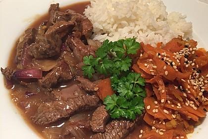 Chinesisches Rindfleisch mit Knoblauch 2