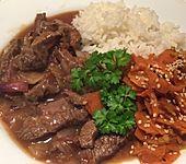 Chinesisches Rindfleisch mit Knoblauch (Bild)