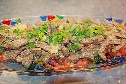 Chinesisches Rindfleisch mit Knoblauch 5