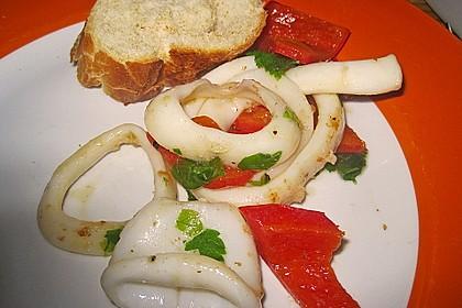 Tintenfischpfanne mit Paprika (Bild)