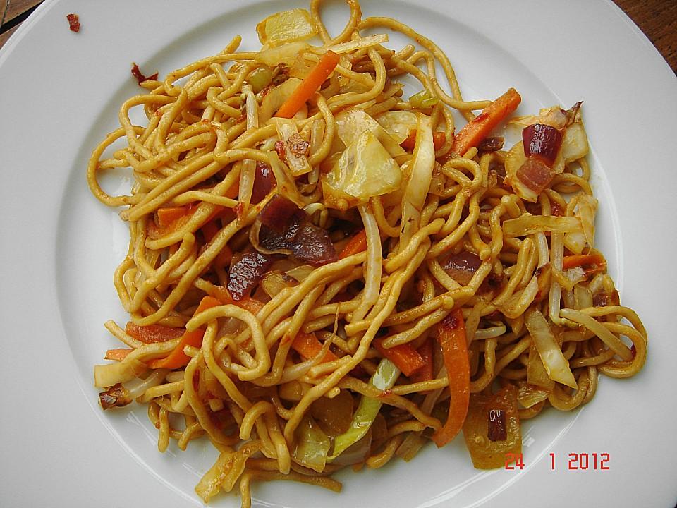 Gebratene Nudeln Asia Art von Surrealix   Chefkoch