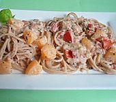 Spaghetti mit Pfirsich - Ingwersauce (Bild)
